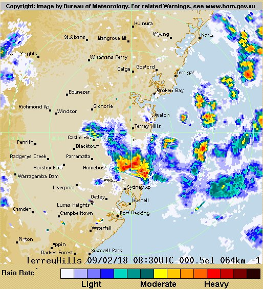 The Little Storm Centers Were Passing From WSW To ENE I See At AWN Sydney Olympic Park Got 9mm